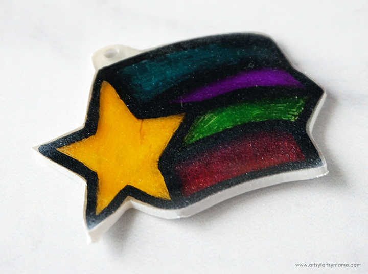 Star Shrink Charm after Baking