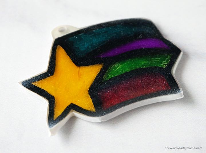 Star Shrink Charm after Baking