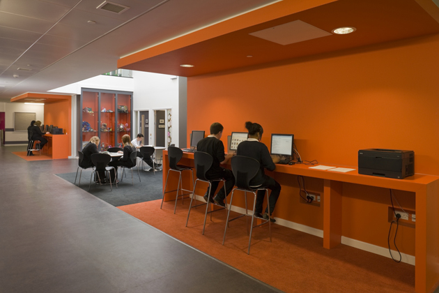 The Interior Design Strategy Had To Meet Needs Of Both Schools Newfield Desired A Corporate Environment Whilst Certain Areas Within Talbot Required