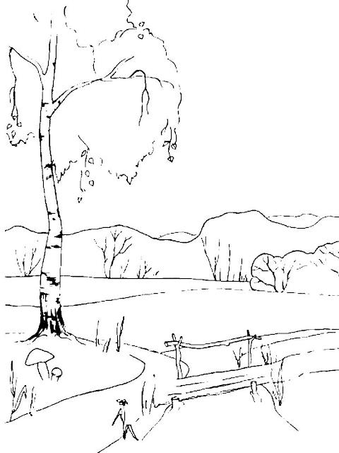 Gambar Mewarnai Pemandangan Sungai - 3