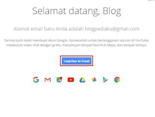 Halaman Selamat Datang Gmail
