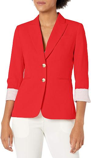 Elegant Red Blazers Jackets For Women