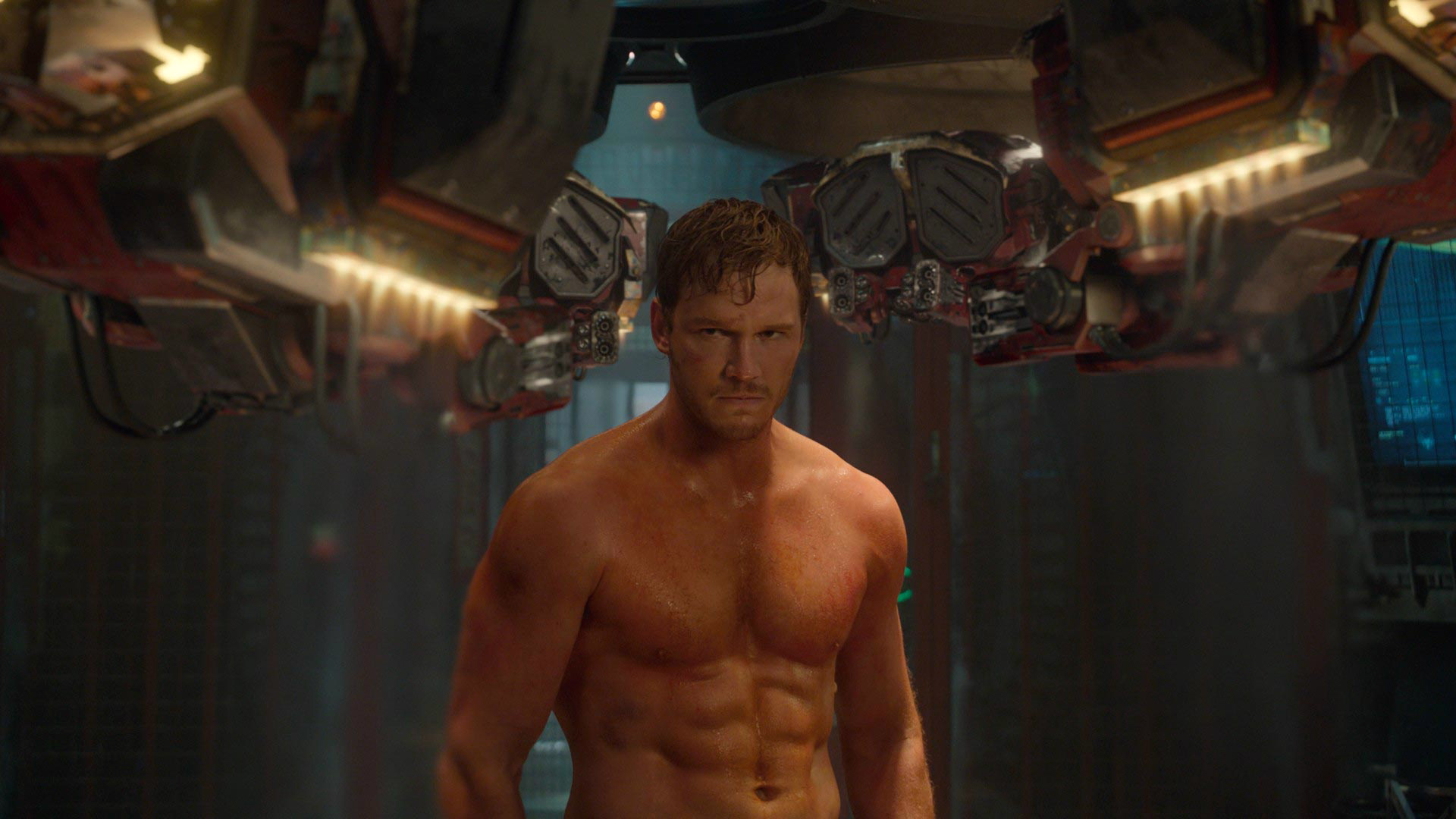 star lord / peter quill (chris pratt) in guardians of the galaxy movie