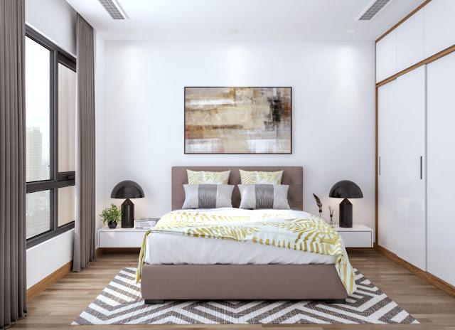 Phòng ngủ căn hộ The Sun Mễ Trì