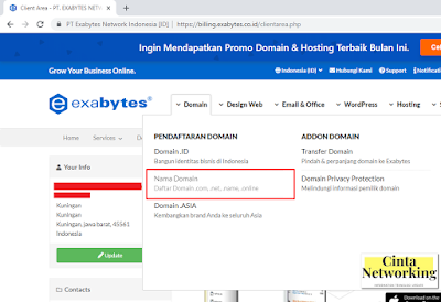 Cara Membeli Domain Di Exabytes - Cinta Networking