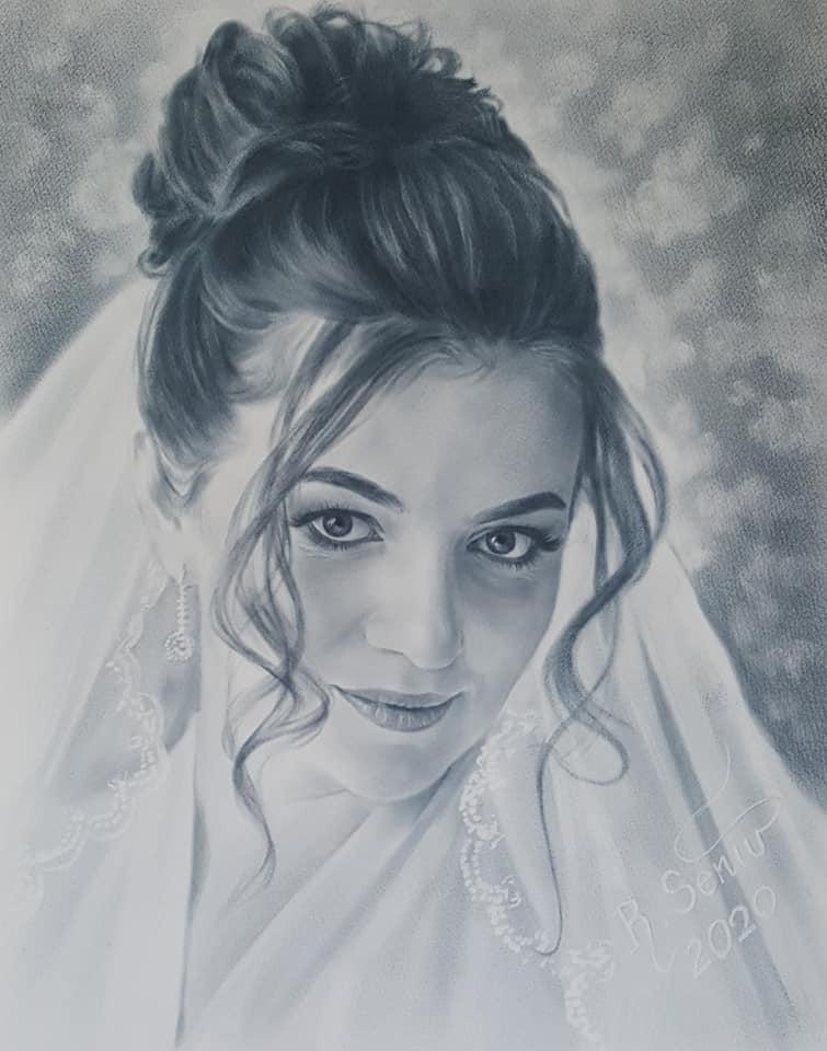 recent artwork with dry brush technique by Roman Seniv