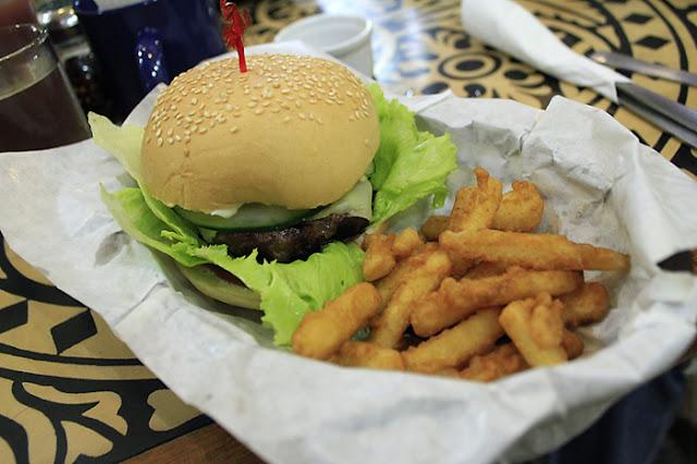 Burger at Alexei's Diner & Cafe