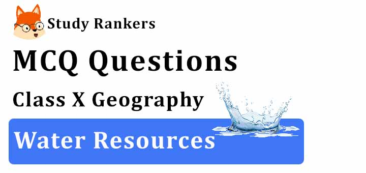 MCQ Questions for Class 10 Geography: Ch 3 Water Resources