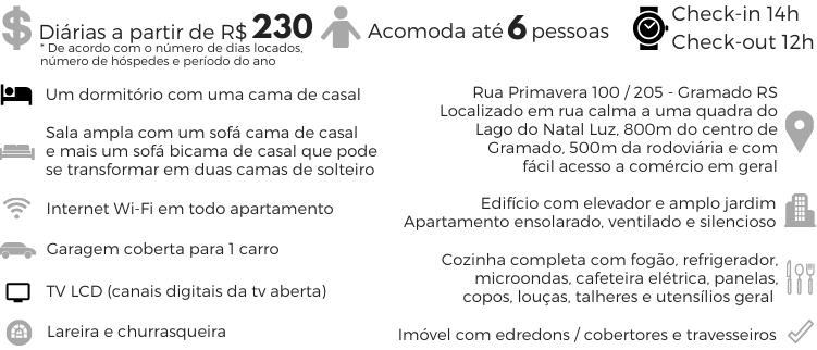 Descrição Apartamento Temporada Gramado