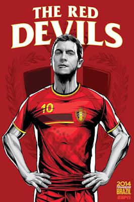 Bélgica  Les Diables Rouges (los diablos rojos en francés) e6550a417a682