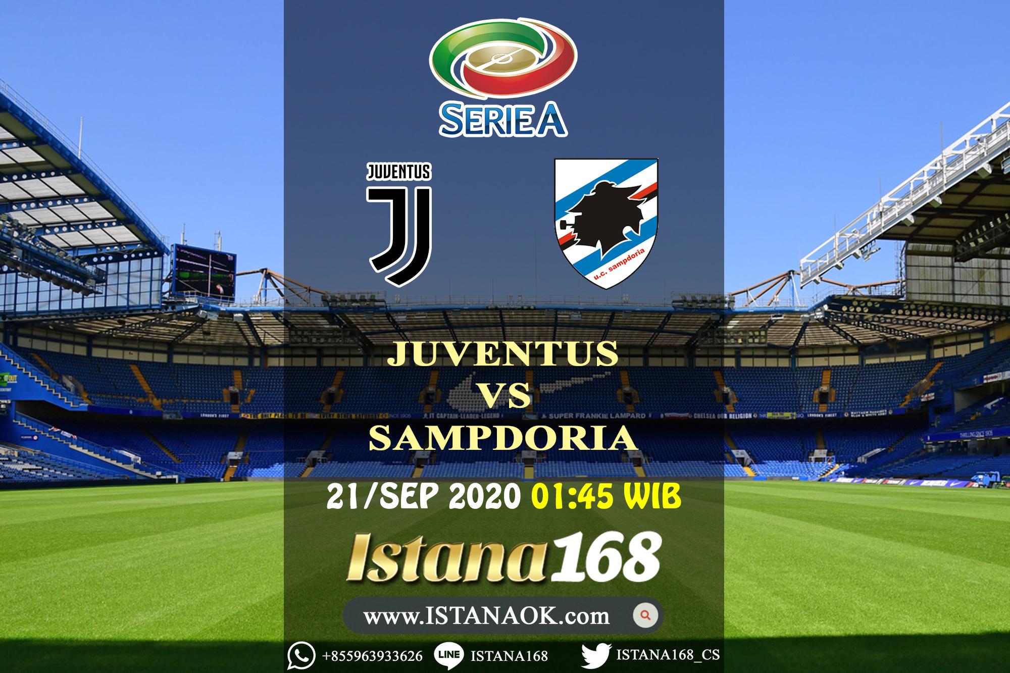 Prediksi Bola Akurat Istana168 Juventus VS Sampdoria 21 September 2020