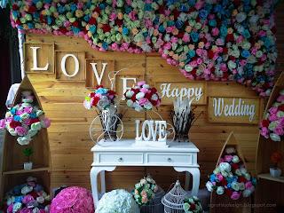 Romantic Wedding Stage Decoration In The Wedding Ceremony At Tuka Village, Badung, Bali, Indonesia