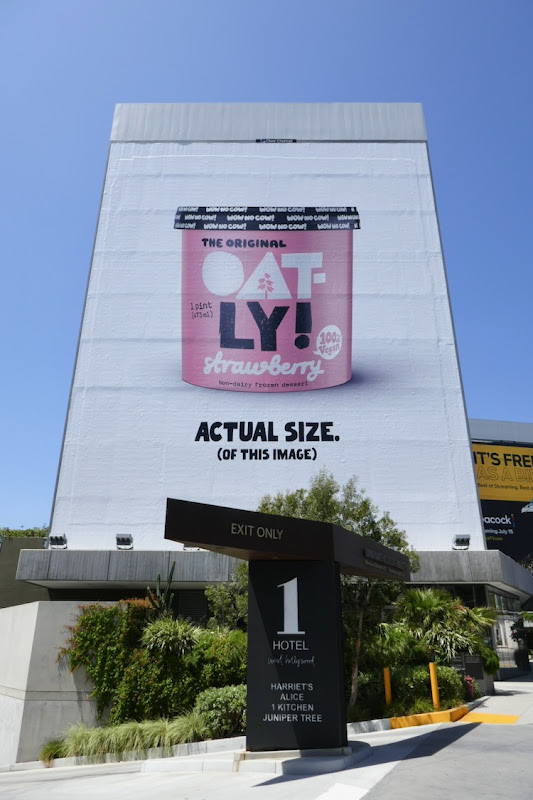 Oatly Strawberry Frozen Dessert billboard