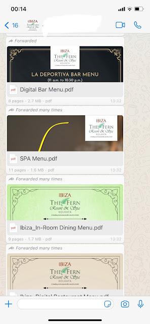Digital Menu at Ibiza Spa and Resort Kolkata