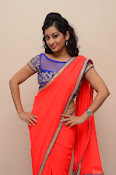 tejaswini sizzling photos in saree-thumbnail-1