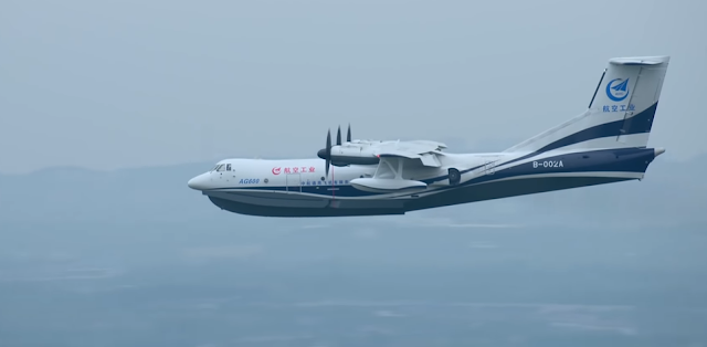 Avião anfíbio da China