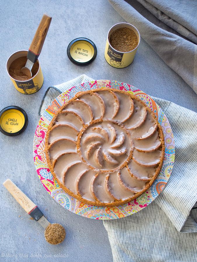 Pastel de manzana especiado