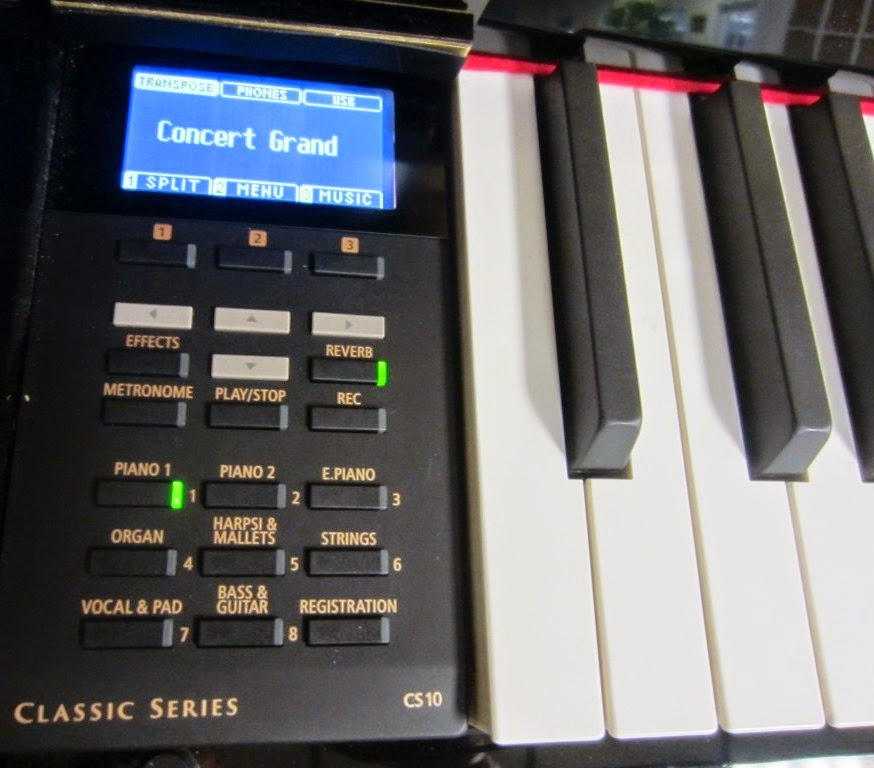 Kawai CS10 digital piano control panel
