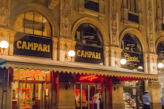 The Caffè Campari inside Milan's historic Galleria Vittorio Emanuele II remains a popular bar today