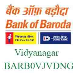 Vijaya Baroda Bank Vidyanagar Branch New IFSC, MICR
