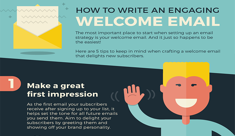 How to Write an Engaging Welcome Email #infographic