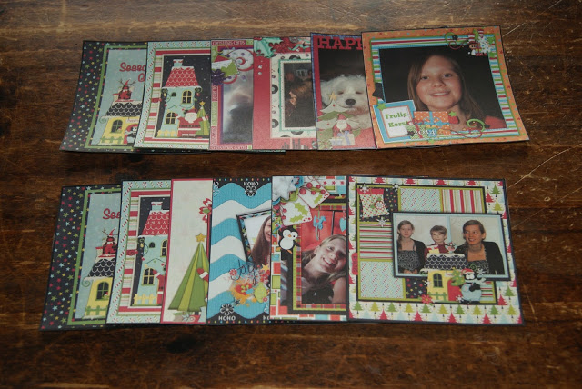 gift idea with mini scrapbooking pages