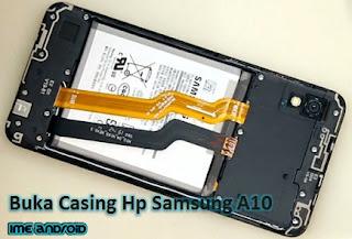 ganti baterai samsung a10
