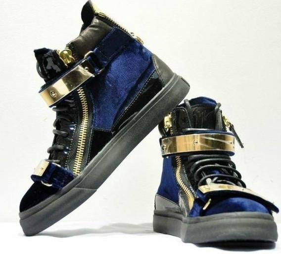 cc9edfd9a5325 Source  Shoe Maker of Melbourne –  Cam in Giuseppe Zanotti Patent Velvet  Bicolor Gold Flap Sneakers