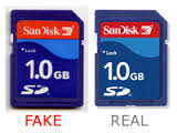fake vs real sd card