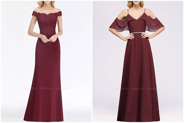 Vestido Bordô, uma ótima opção para madrinhas
