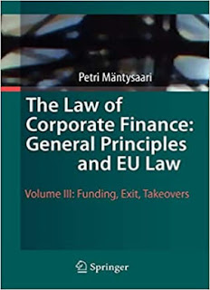 The Law of Corporate Finance: General Principles and EU Law: Volume III