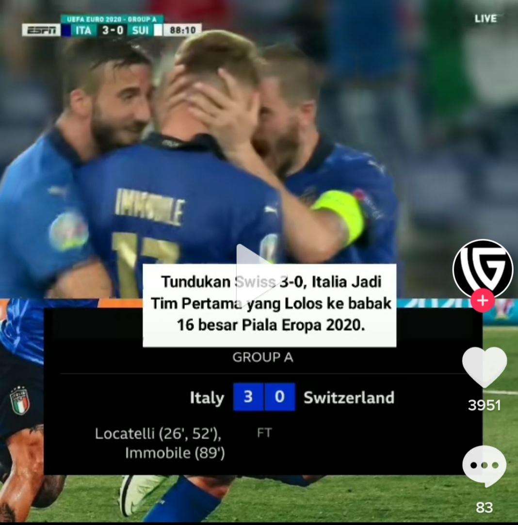 Hasil eoru 2020/2021 Italia vs Swiss