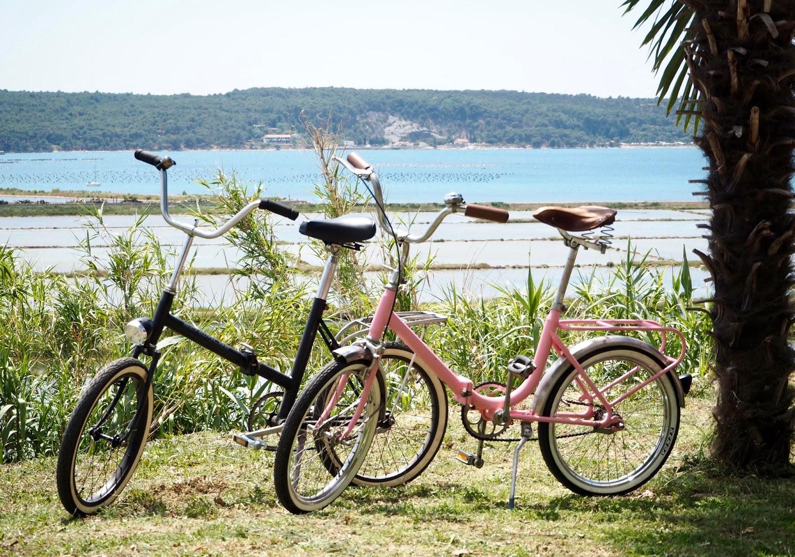 ružová skladačka, pink folding bike