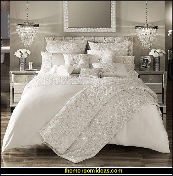 Kylie Minogue At Home Darcey Oyster Bedding