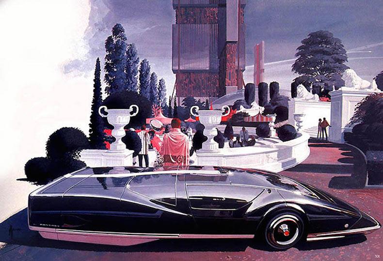 Ilustraciones retro-futuristas por Syd Mead