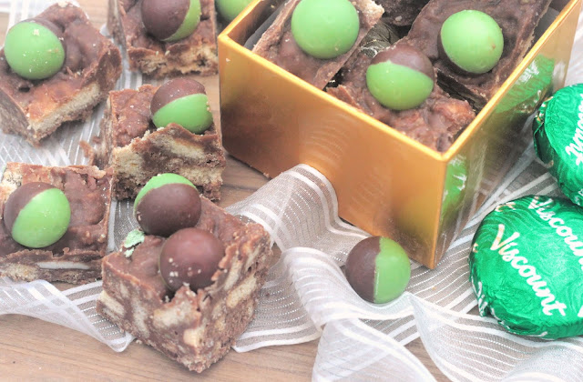 No Bake Mint Chocolate Tiffin
