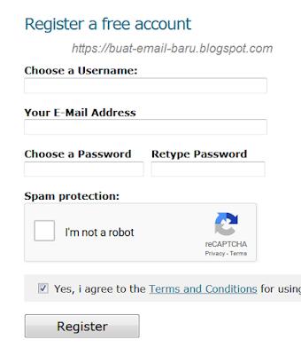 arti re enter email, re enter password dan confirm password