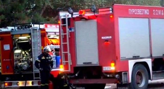 """Ηλεία: """"Εσπασαν"""" τα φρένα πυροσβεστικού οχήματος και παρέσυρε αστυνομικό"""