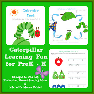 Free Caterpillar Early Learning Pack