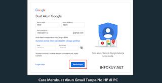 Cara Membuat Akun Gmail Tanpa No HP di PC #1
