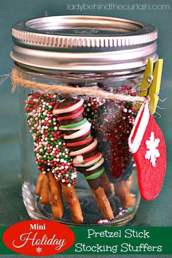 Mini Holiday Pretzel Stick Stocking Stuffer