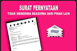 Contoh Surat Pernyataan Tidak Sedang Menerima Beasiswa dari Pihak Lain