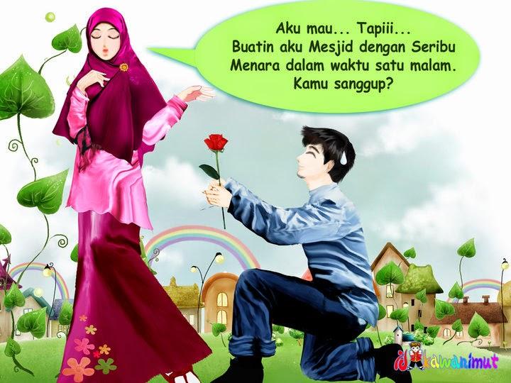 Kumpulan Gambar Kartun Romantis Islami Wallpaper Cinta Sejati