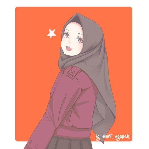 صور بنات انمي محجبات رمزيات كرتونيه بنات بالحجاب Suwar