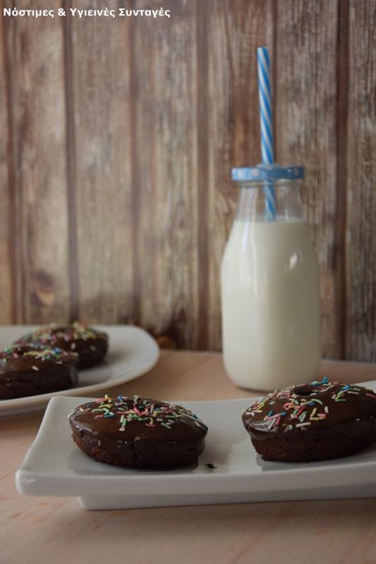 Donuts baked banana chocolate gift shapes donuts
