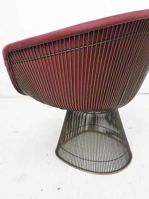 Warren Platner for Knoll Bronze Wide Lounge Chairs 4