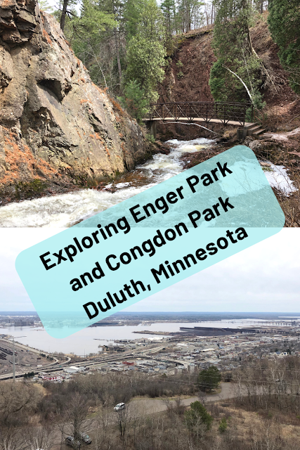 Exploring the Parks of Duluth at Enger Park and Congdon Park Enjoying Panoramic Views of Duluth, Minnesota and Waterfalls.