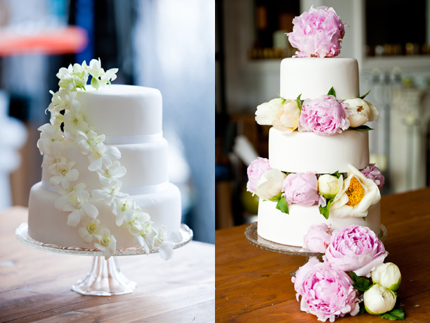 square wedding cake with fresh flowers. Black Bedroom Furniture Sets. Home Design Ideas