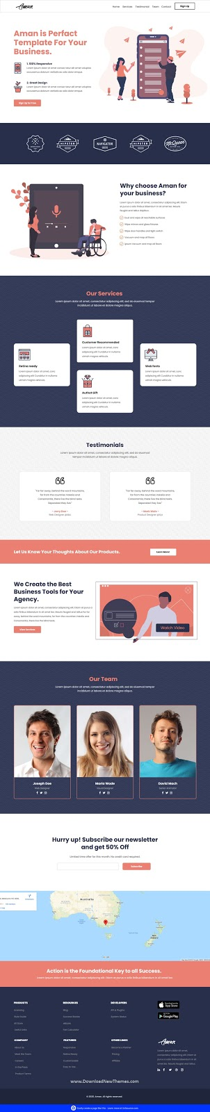 Multipurpose Template with Unbounce Page Builder