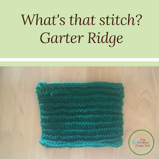 Picture of whats that stitch garter ridge